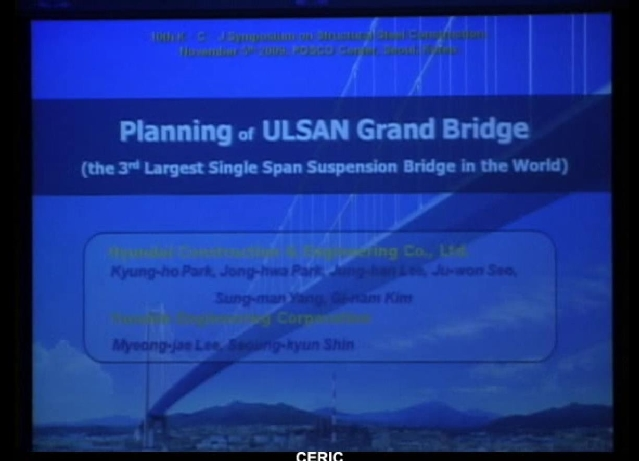 The Planning and Basic Design of Ulsan Harbour Bridge
