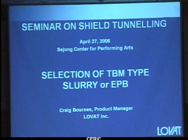 쉴드 TBM 신기술 및 지반조건에 따른 장비선정 방안(1)