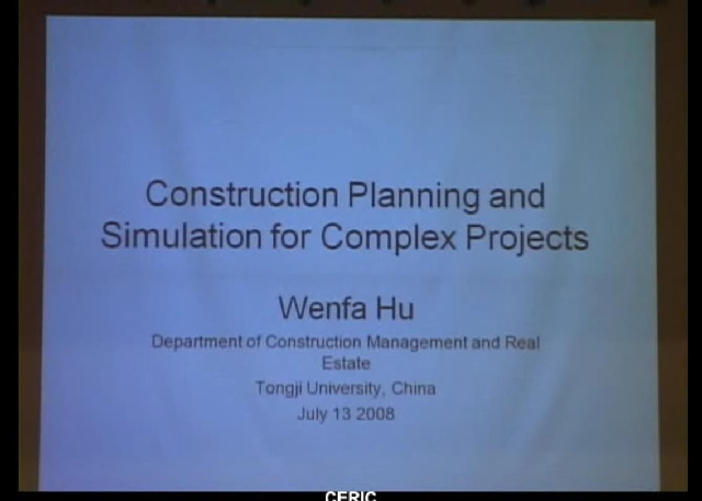 Construction Planning and Simulation for Complex Projects